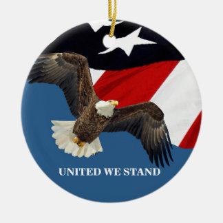 Ornamento De Cerâmica Unido nós Stand/USA