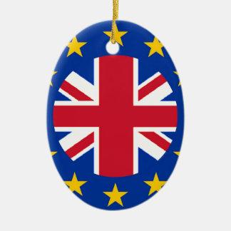 Ornamento De Cerâmica Union Jack - a UE embandeira