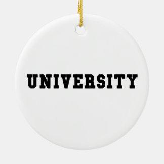 Ornamento De Cerâmica UNIVERSIDADE com rotulação preta