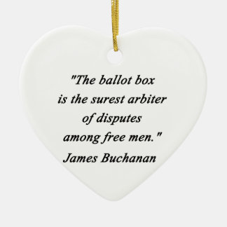 Ornamento De Cerâmica Urna de voto - James Buchanan