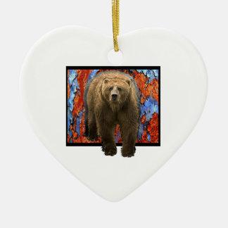 Ornamento De Cerâmica Urso abstrato