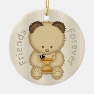 Ornamento De Cerâmica Urso de mel bonito BFF
