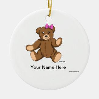 Ornamento De Cerâmica Urso de ursinho - fêmea