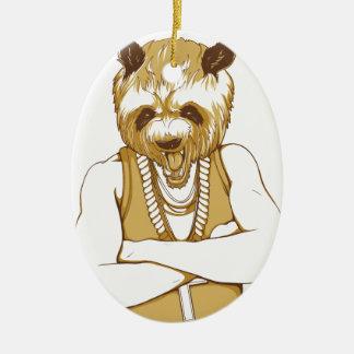 Ornamento De Cerâmica urso humano com língua