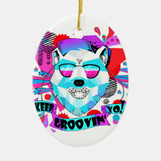 Ornamento De Cerâmica Urso musical