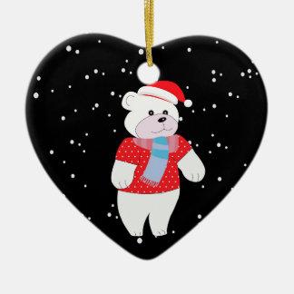 Ornamento De Cerâmica urso polar