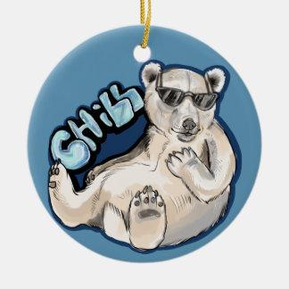 Ornamento De Cerâmica Urso polar frio