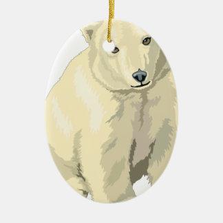Ornamento De Cerâmica Urso polar peluches