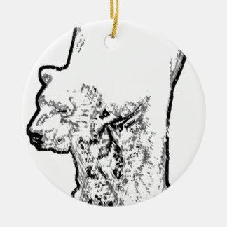 Ornamento De Cerâmica Urso polar que Prowling