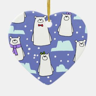 Ornamento De Cerâmica ursos polares