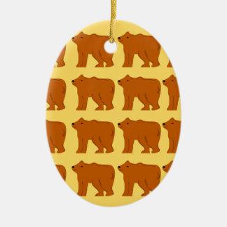 Ornamento De Cerâmica Ursos polares no ouro