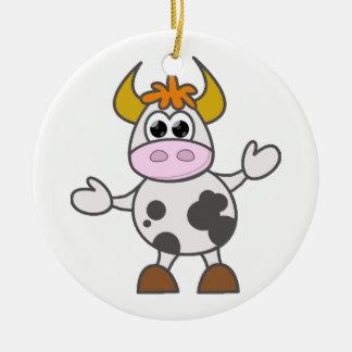 Ornamento De Cerâmica Vaca confundida