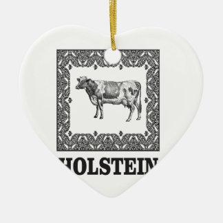 Ornamento De Cerâmica Vaca de Holstein
