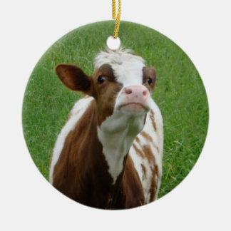 Ornamento De Cerâmica Vaca de leite da leiteria na fazenda
