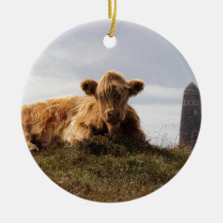 Ornamento De Cerâmica Vaca de Luing na ilha de Islay, Scotland