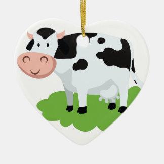 Ornamento De Cerâmica vaca de ordenha no jardim