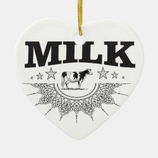 Ornamento De Cerâmica Vaca do preto do leite da estrela