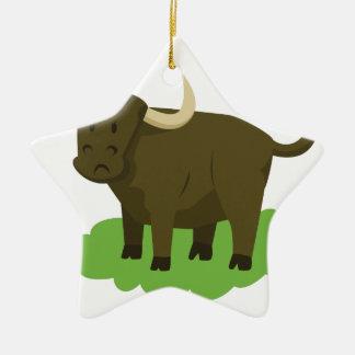 Ornamento De Cerâmica vaca na grama
