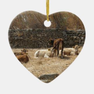 Ornamento De Cerâmica Vacas