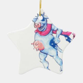 Ornamento De Cerâmica Vacas da neve