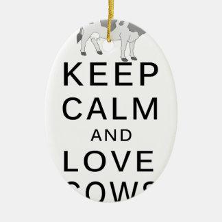 Ornamento De Cerâmica vacas do amor