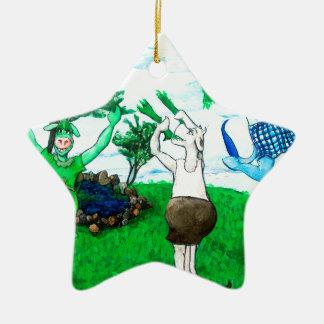 Ornamento De Cerâmica Vacas nas saias e nos vestidos