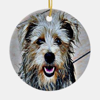 Ornamento De Cerâmica Vale do pop art de Imaal Terrier
