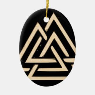 Ornamento De Cerâmica Valknut