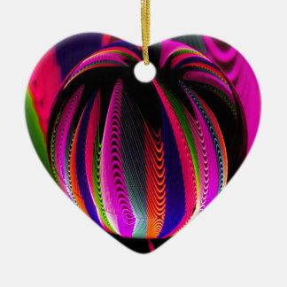 Ornamento De Cerâmica Variação das cores no vidro
