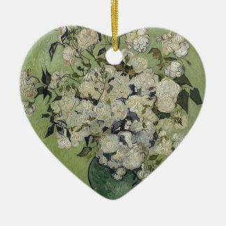 Ornamento De Cerâmica Vaso de Vincent van Gogh dos rosas que pintam a