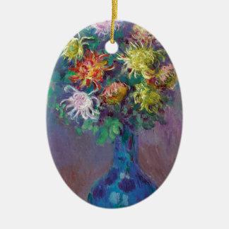 Ornamento De Cerâmica Vaso dos crisântemos Claude Monet