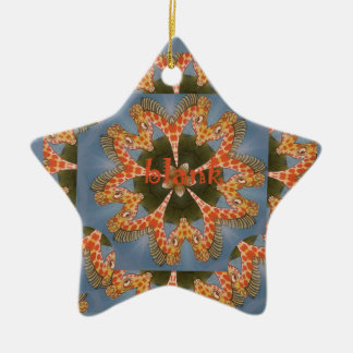 Ornamento De Cerâmica Vazio colorido africano surpreendente bonito do