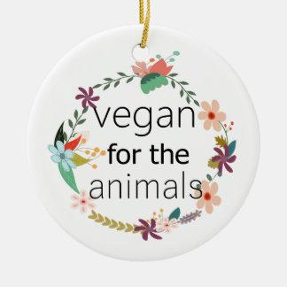 Ornamento De Cerâmica Vegan para o design floral dos animais