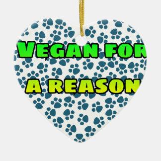 Ornamento De Cerâmica Vegan para uma razão