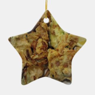 Ornamento De Cerâmica Vegetais crocantes panados e fritados com limão