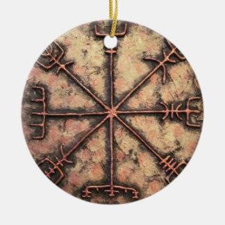 Ornamento De Cerâmica Vegvisir, rune de Viking, período do Rune