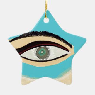 Ornamento De Cerâmica Veja o azul