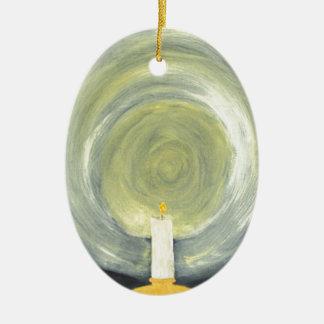 Ornamento De Cerâmica Vela que ilumina-se acima da noite