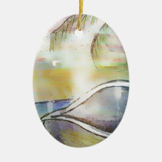 Ornamento De Cerâmica Veleiros e Seashells
