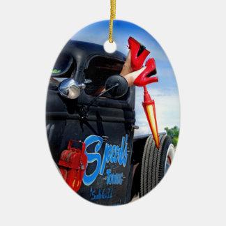 Ornamento De Cerâmica Velocidades que rebocam o caminhão Betty