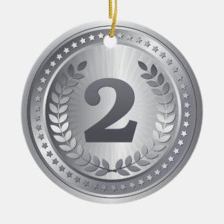 Ornamento De Cerâmica Vencedor do lugar do medalhista de prata ò