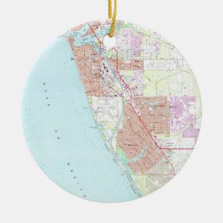 Ornamento De Cerâmica Veneza Florida Mapa (1973)