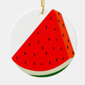 Ornamento De Cerâmica Verão da fatia da colheita da fruta da melancia