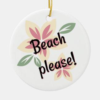 Ornamento De Cerâmica Verão floral - praia por favor