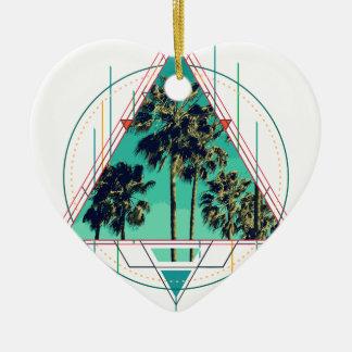 Ornamento De Cerâmica Verão geométrico Palm Beach do calif do vintage