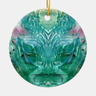 Ornamento De Cerâmica verde