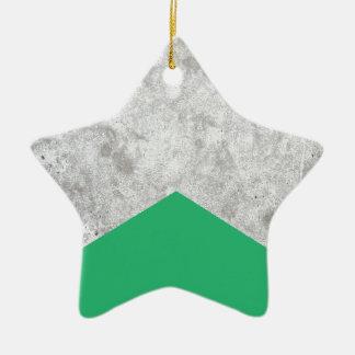 Ornamento De Cerâmica Verde concreto #175 da seta