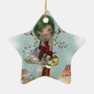 Ornamento De Cerâmica verde do inverno