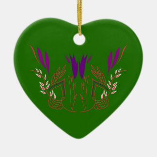 Ornamento De Cerâmica Verde Eco da mandala do design