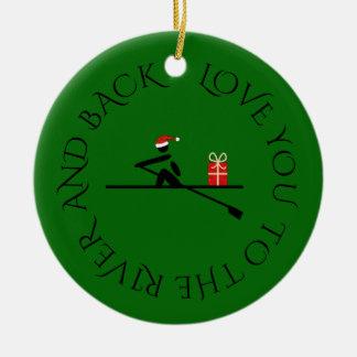 Ornamento De Cerâmica Verde feito sob encomenda do rower do Natal do